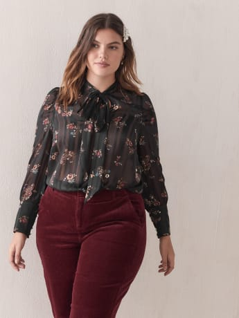 Paisley Chiffon Blouse - Addition Elle