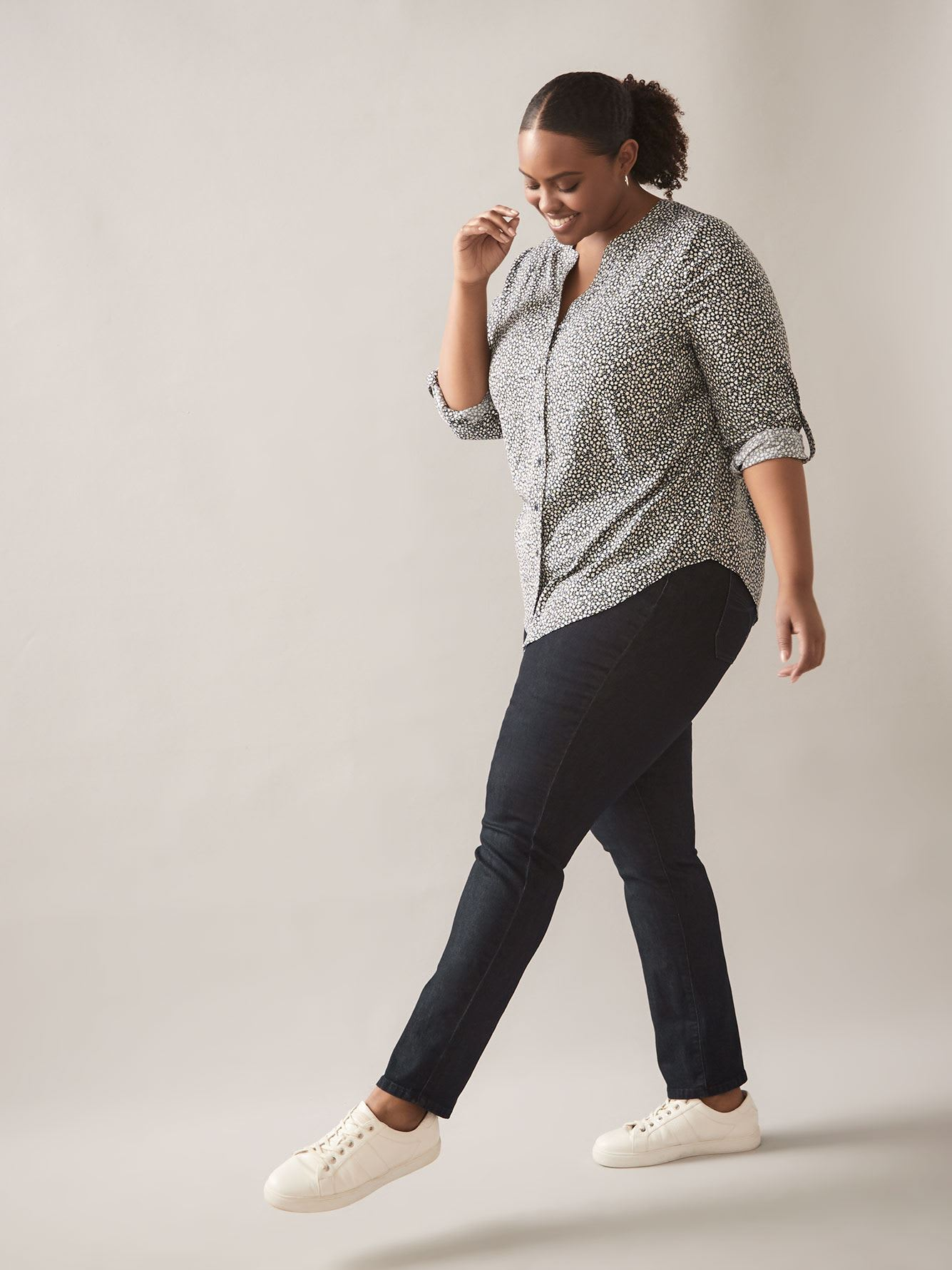 Petite, Savvy Fit, Straight-Leg Dark Jeans - In Every Story