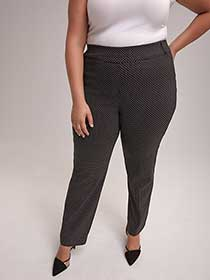 Petite Printed Savvy Soft Touch Straight Leg Pant - In Every Story