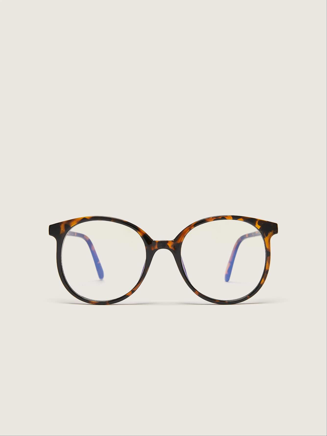 Pantos Blue Lense Glasses - Addition Elle