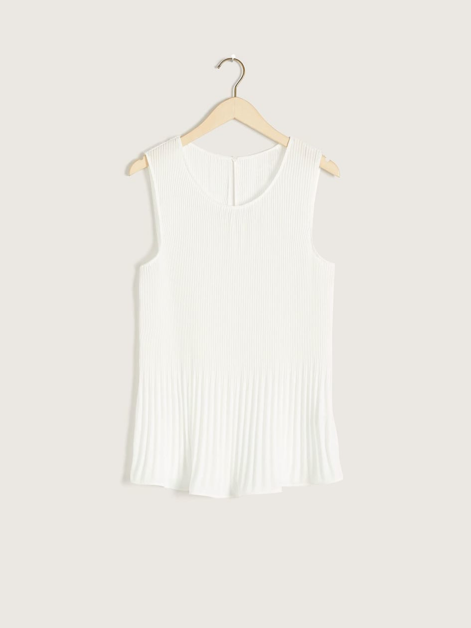 Swing Tank Top with Pleats