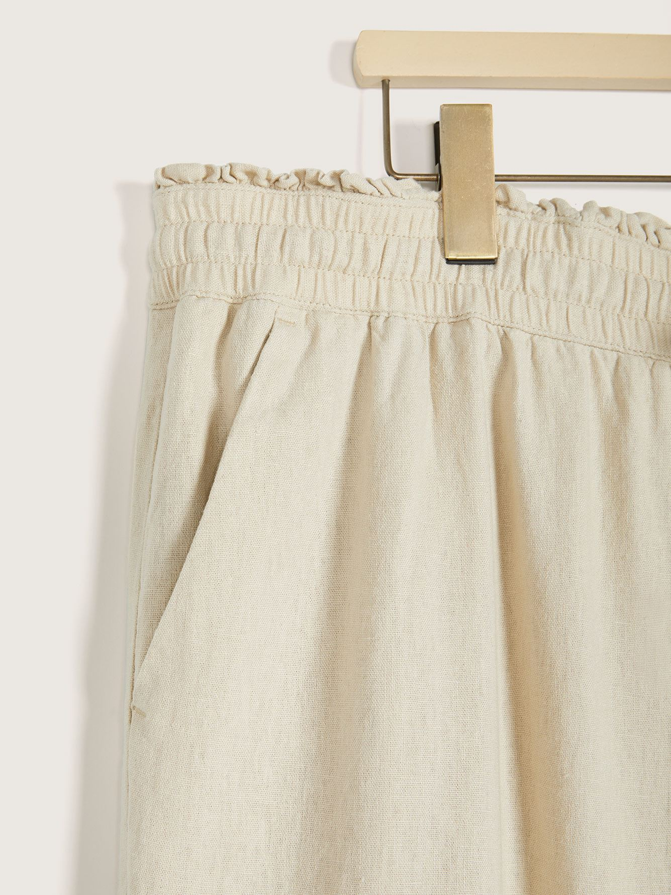 Linen-Blend Wide Leg Pant - In Every Story