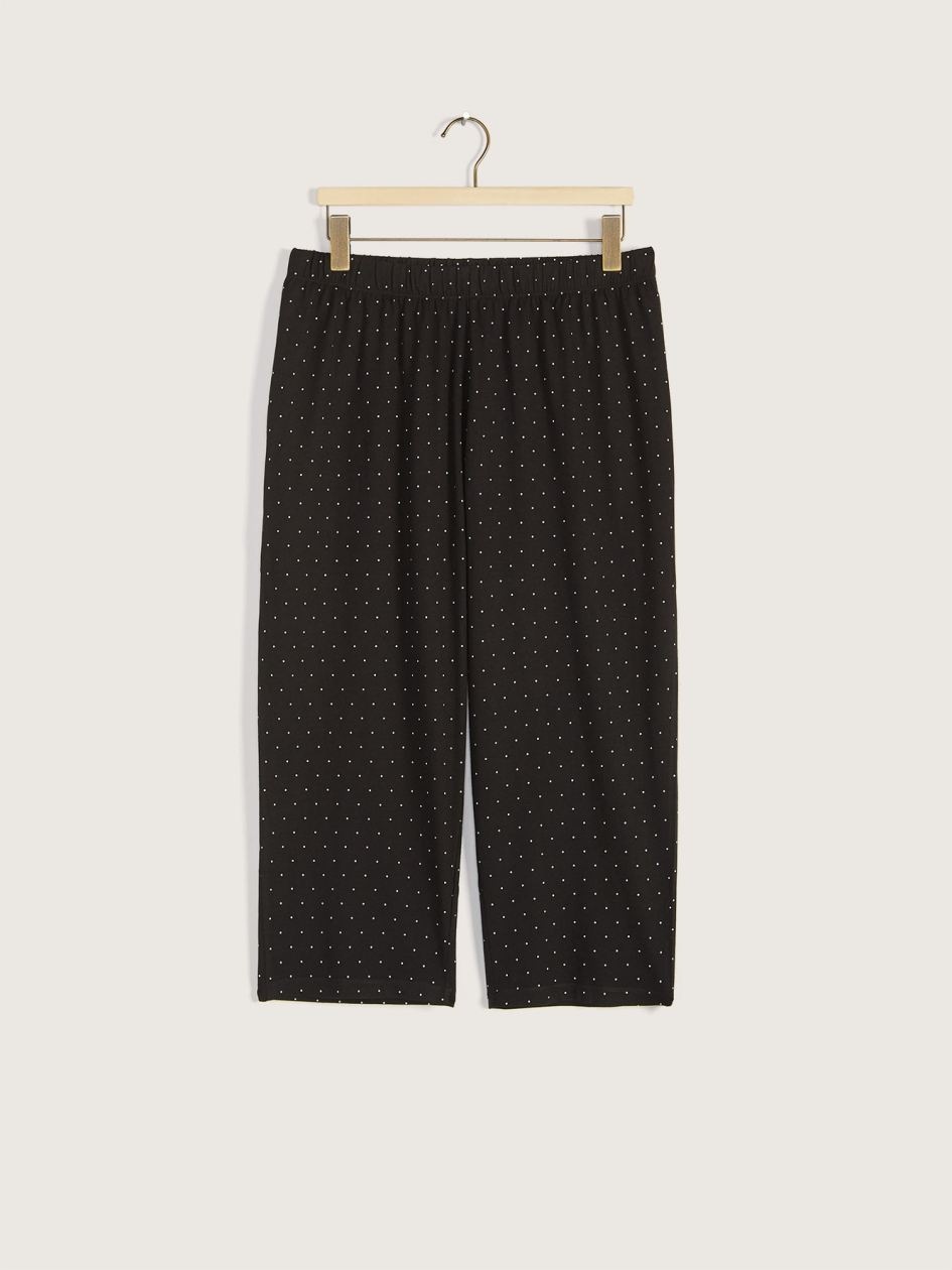 Printed Capri Pajama Pants - Addition Elle