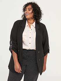 Blazer with Sleeve Tabs - In Every Story