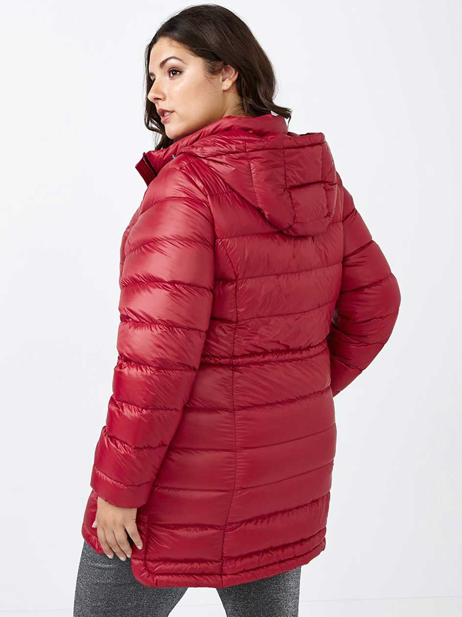 Long Hooded Packable Down Jacket