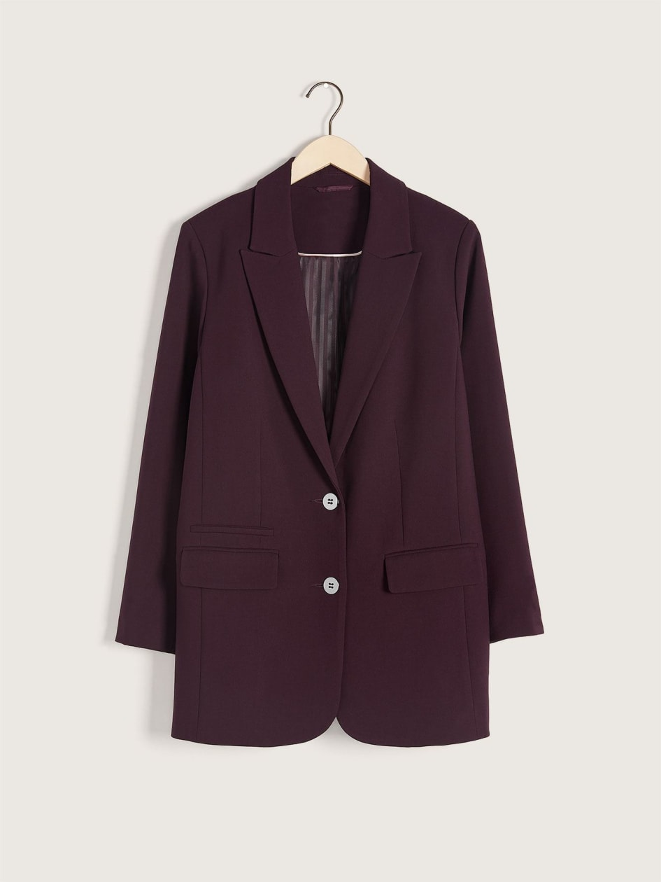 Long Single-Breasted Blazer - Addition Elle