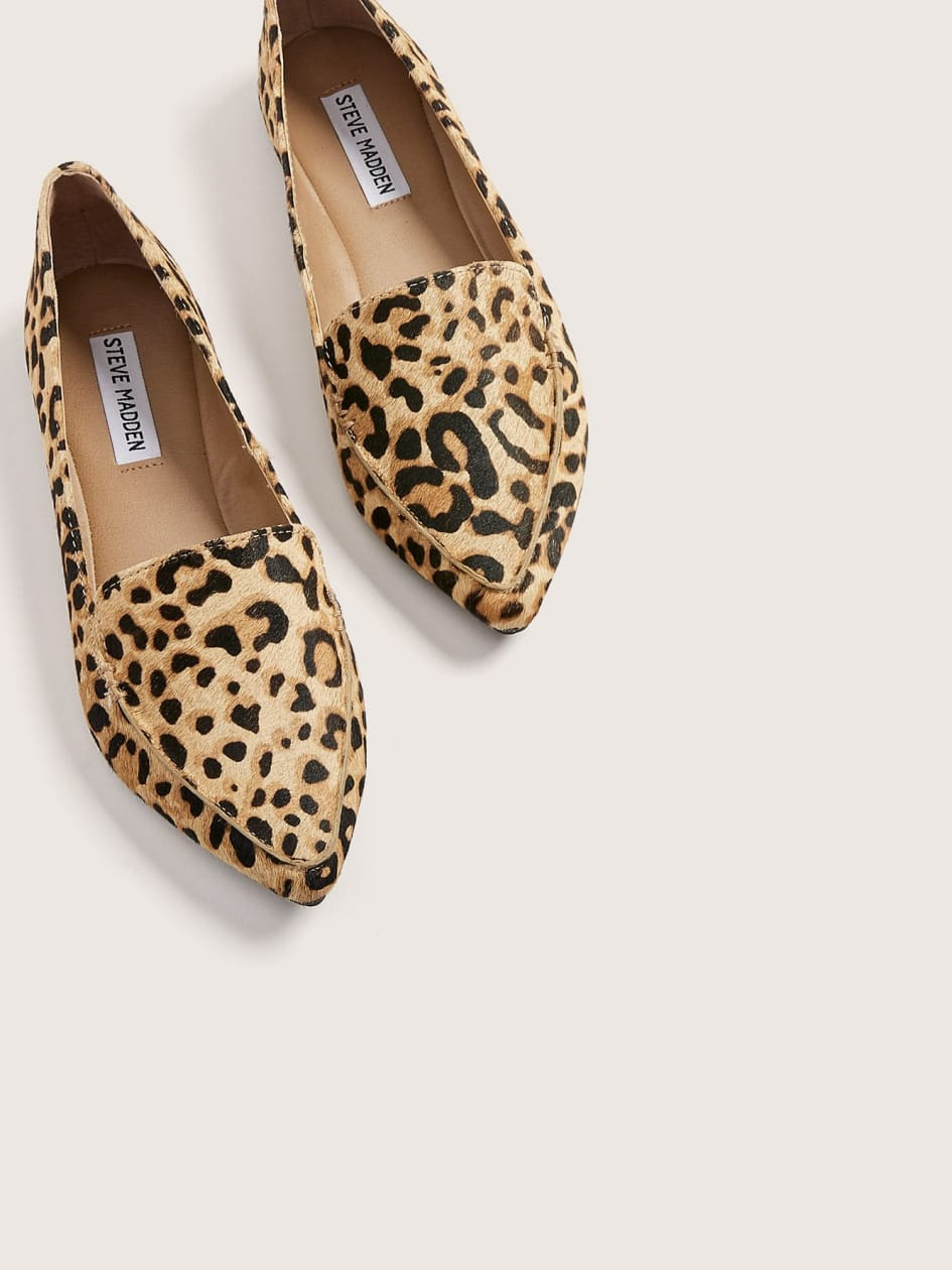 Leopard Feather Loafers - Steve Madden