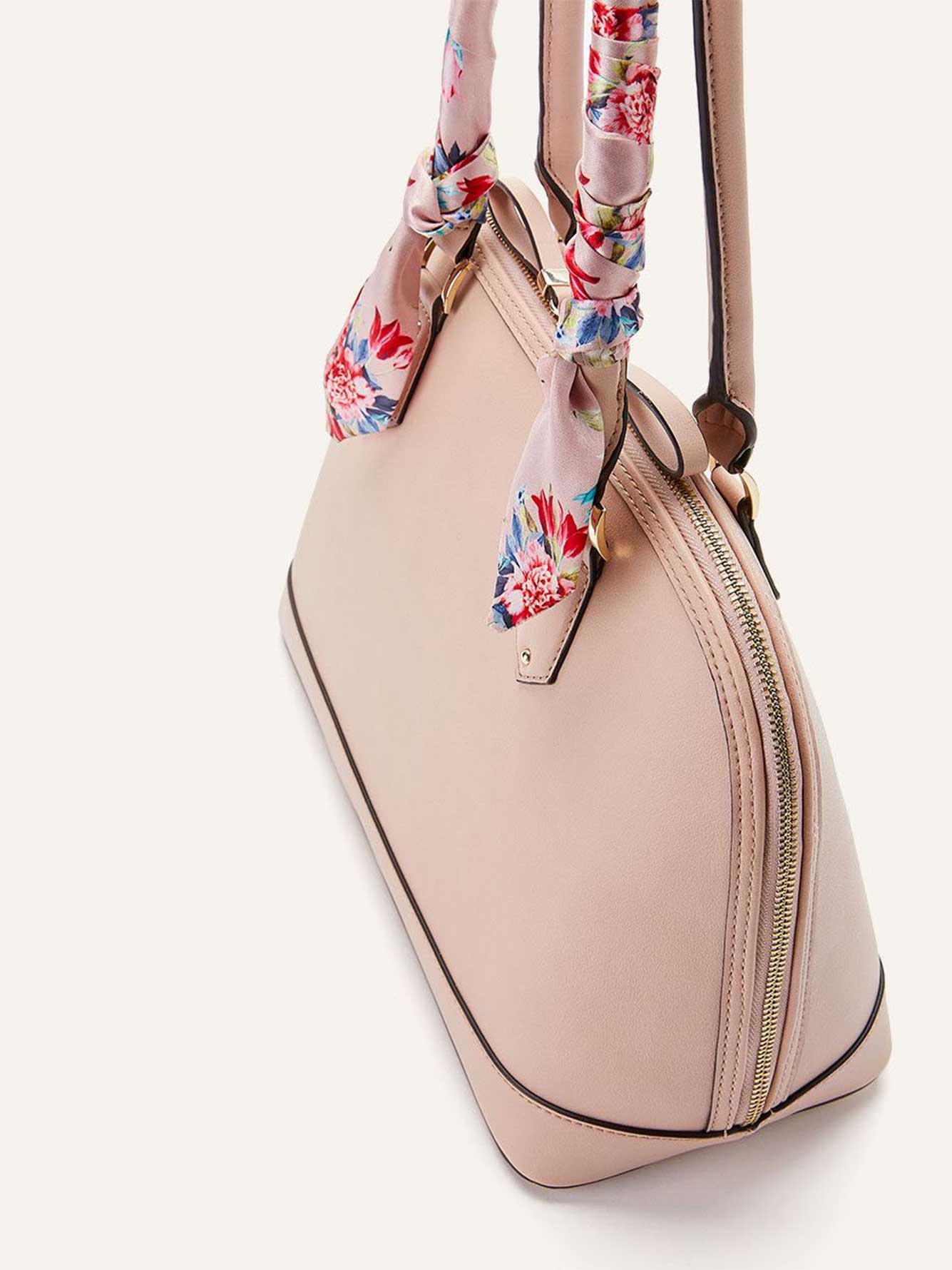 Dome Satchel with Scarf - Addition Elle