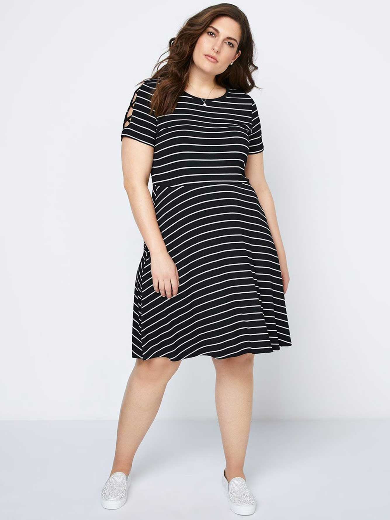 Striped Fit and Flare Dress - In Every Story  990a2b03d