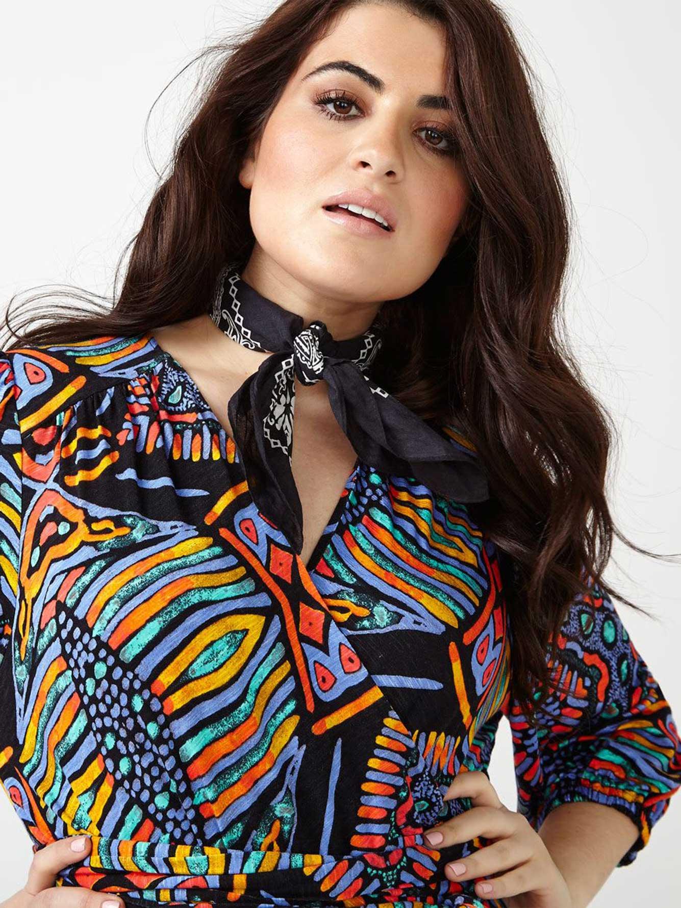 102b20754ad MELISSA McCARTHY Printed Maxi Dress