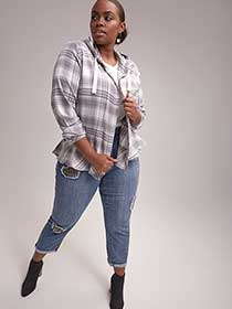 Plaid Blouse with Hood - d/C JEANS
