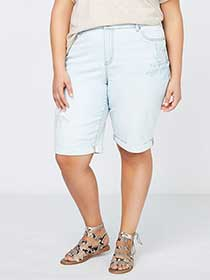 Slightly Curvy Fit Denim Bermuda Short - d/C JEANS