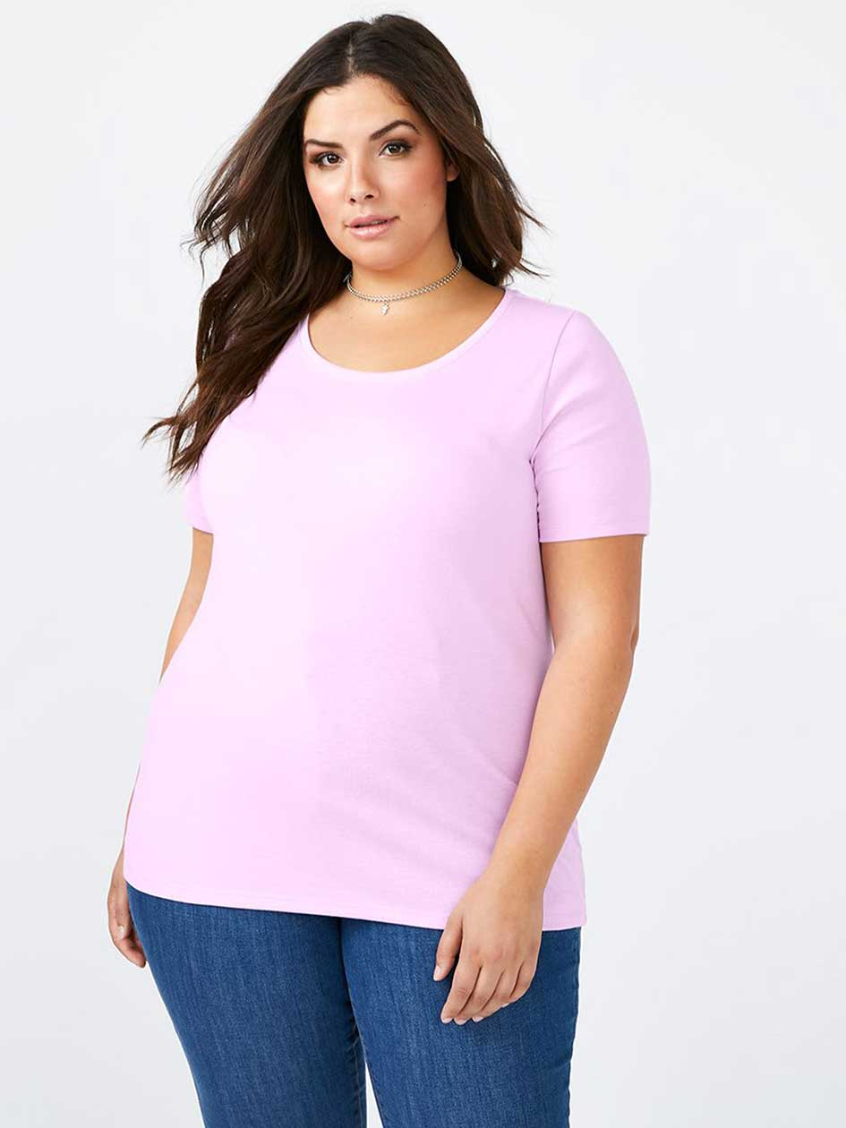 Curve Fit Basic Scoop Neck T-Shirt