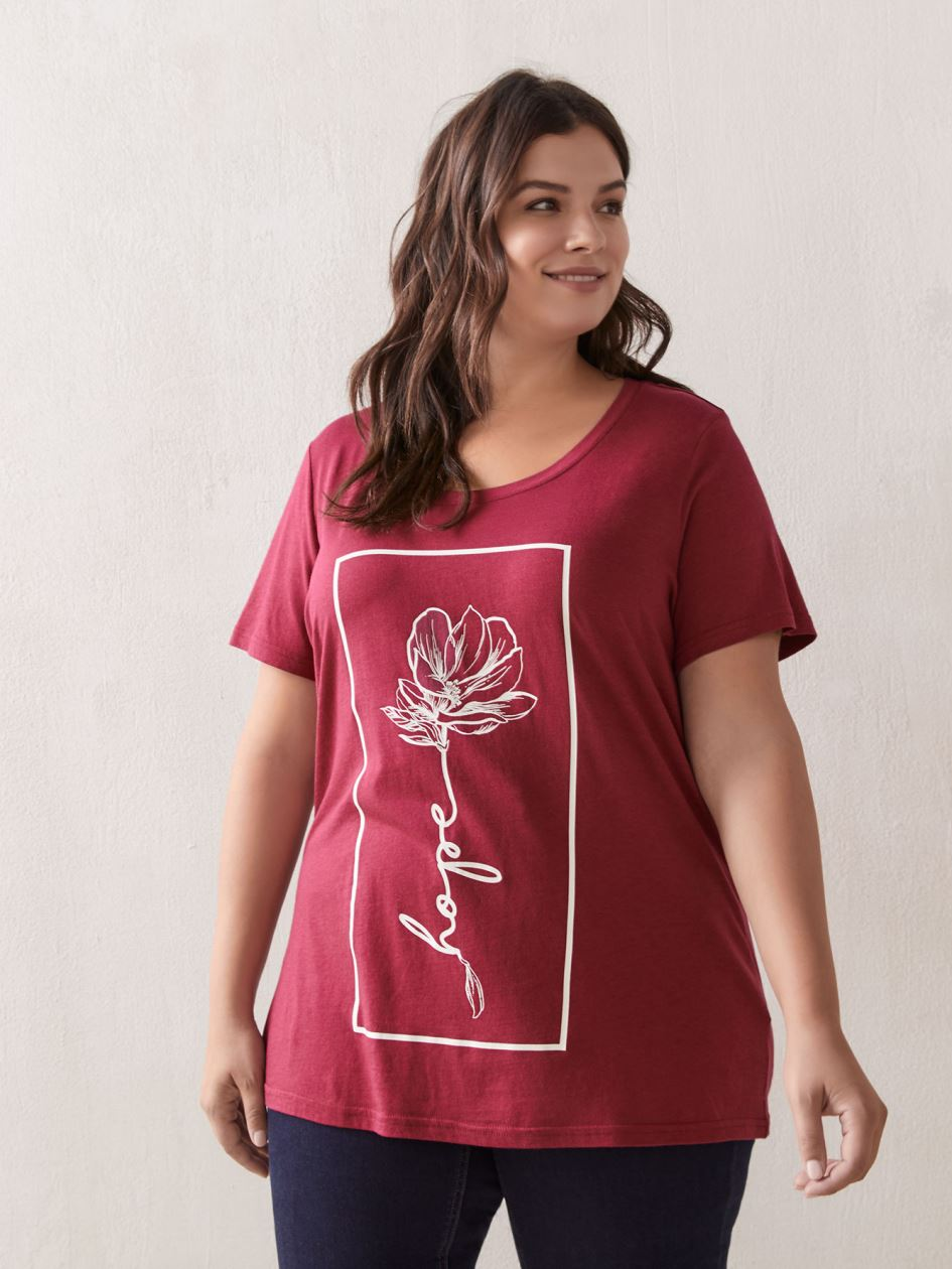 Scoop Neck Short Sleeve Boyfriend T-Shirt - In Every Story