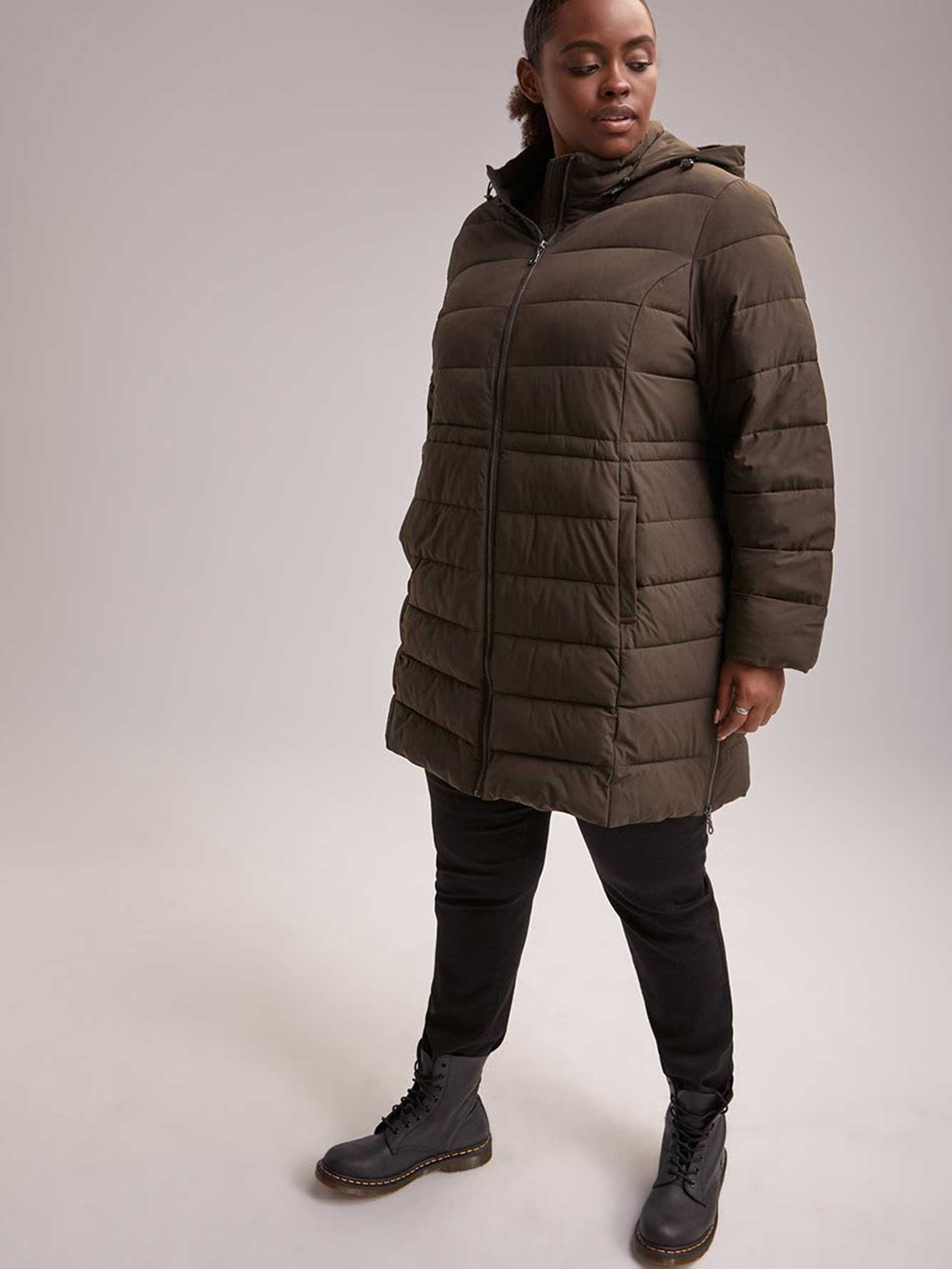 Packable Faux Down-Filled Puffer Jacket with Hood - In Every Story