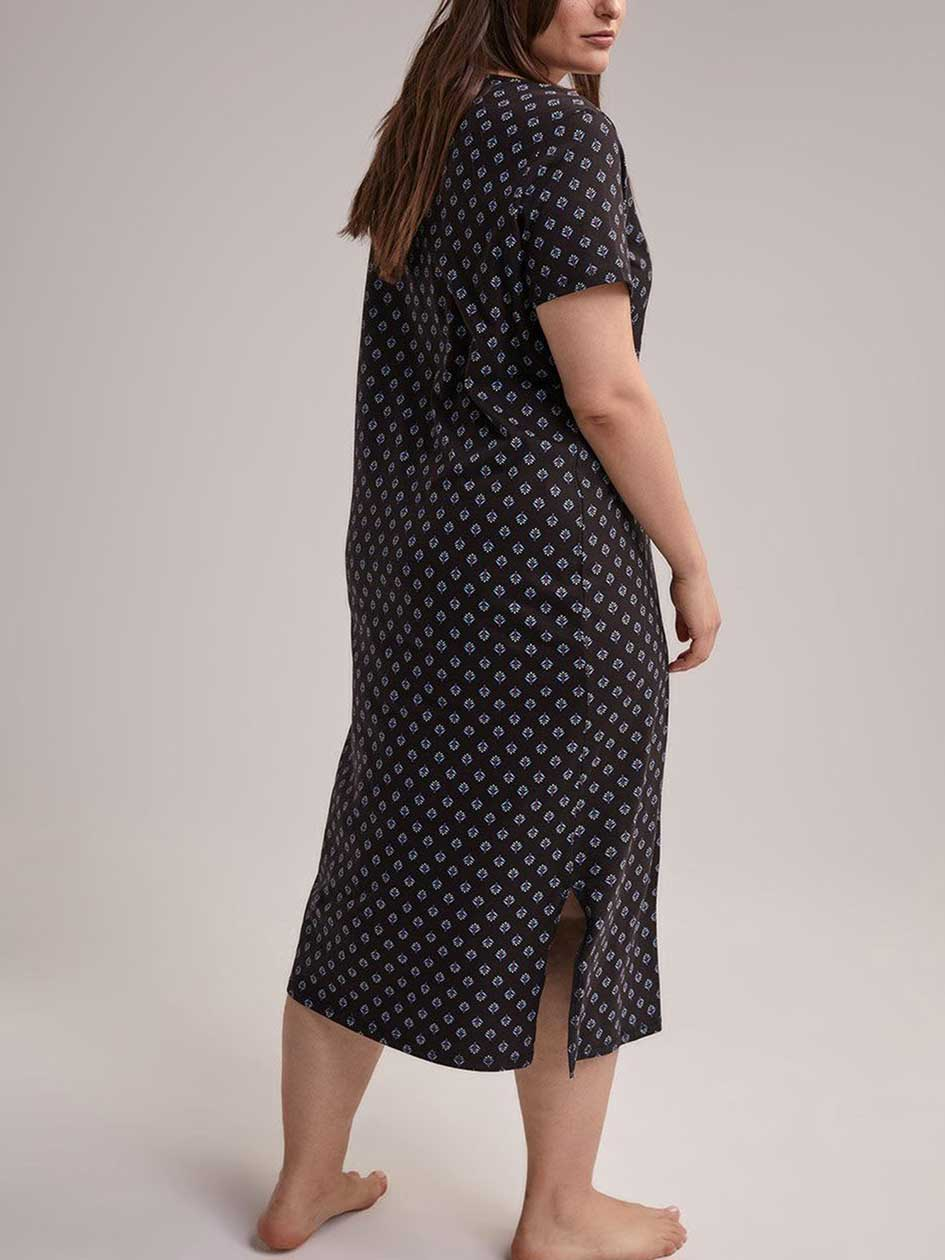 Printed Cotton Long Sleepshirt - ti Voglio