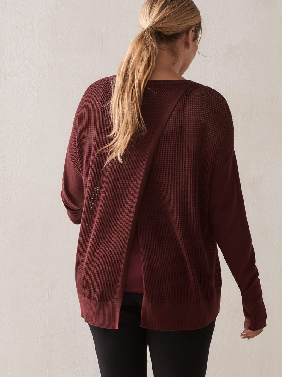 Open Back Sweater - ActiveZone