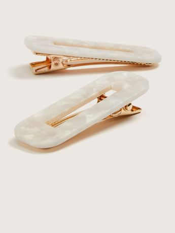 Marble Hair Clips, 2-Pack - Addition Elle