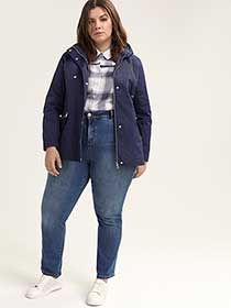 Parka Rain Jacket with Hood - d/C JEANS