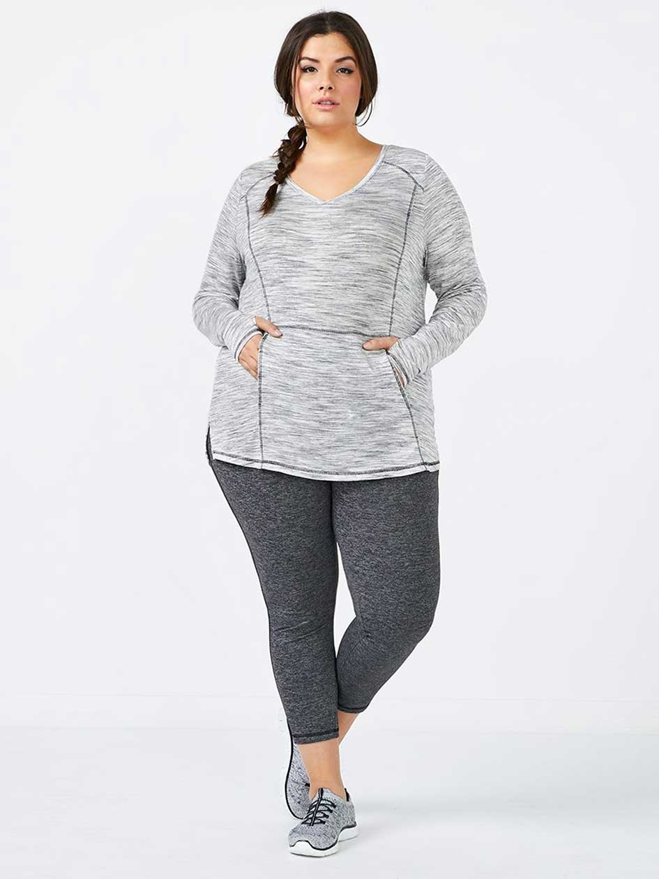 Essentials - Long Sleeve Plus-Size Basic Top