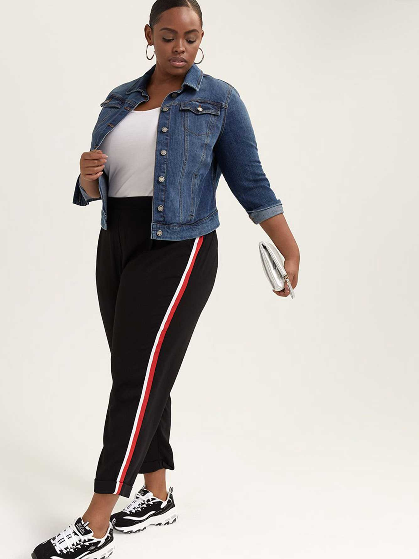 Pull-On Slim Leg Ankle Pant with Side Stripe - In Every Story