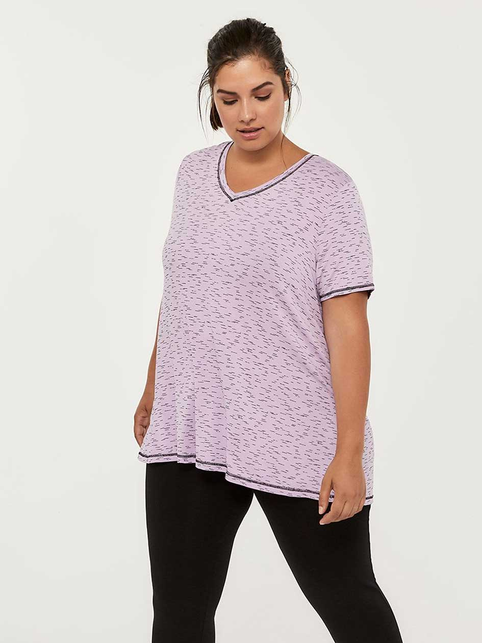 Printed Plus-Size T-Shirt - ActiveZone