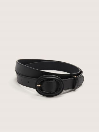 Belt with Self-Covered Oval Buckle - Addition Elle