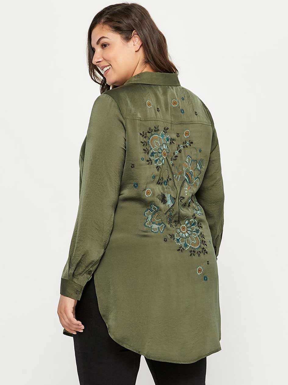 Long Sleeve Tunic with Back Embroidery - d/C JEANS