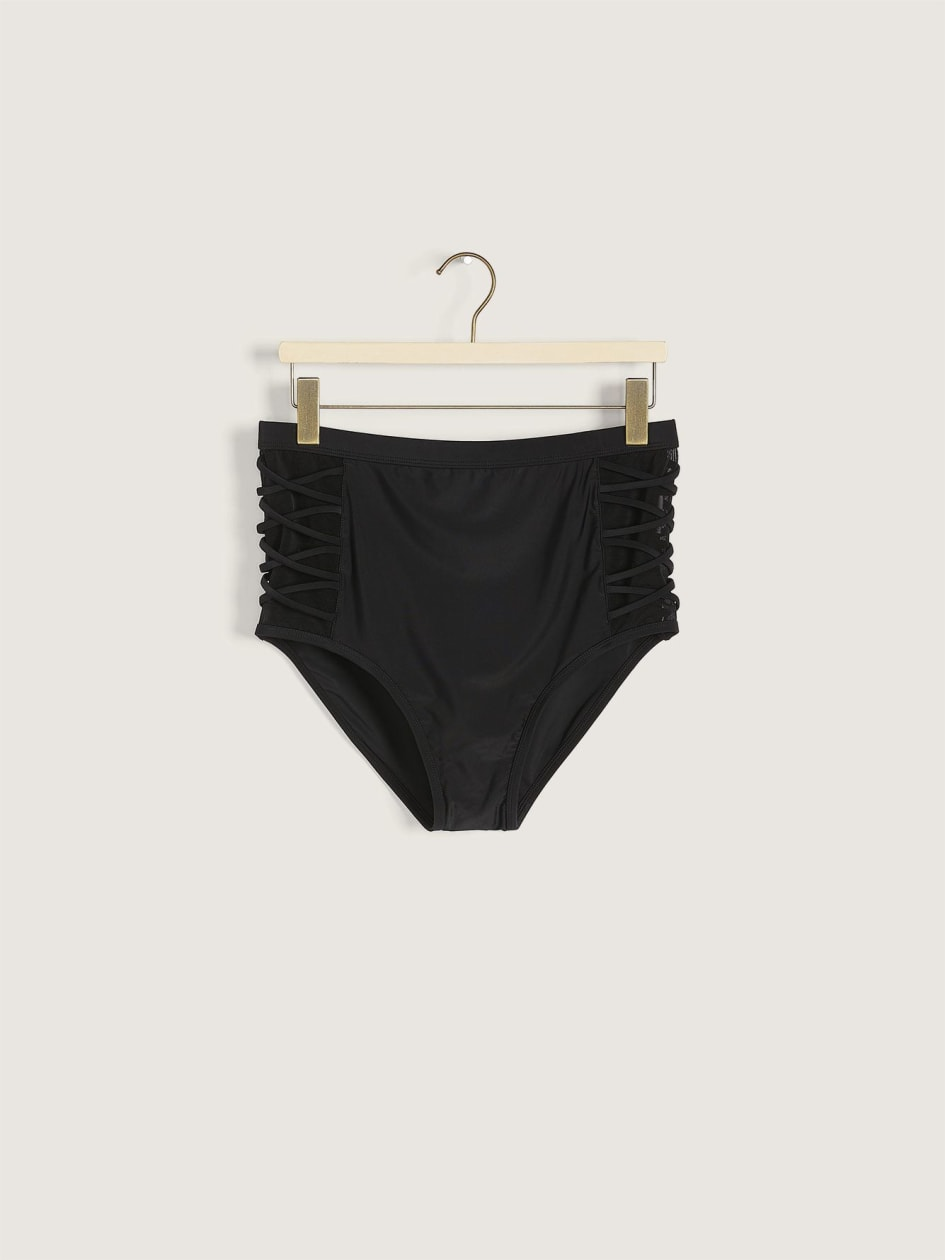 Solid High Waist Swim Brief