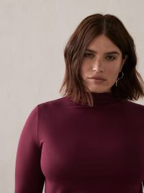 Solid Mock Neck Top - Addition Elle