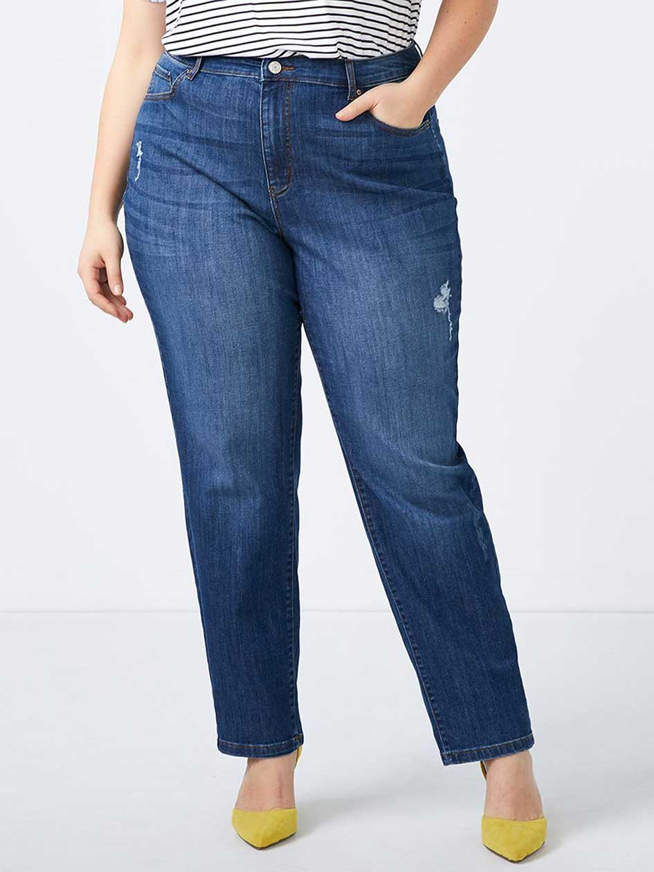 d/c JEANS - Curvy Fit Straight Leg Jean