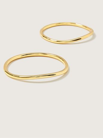 14k Plated Bangle Bracelets, Pack of 2 - Addition Elle