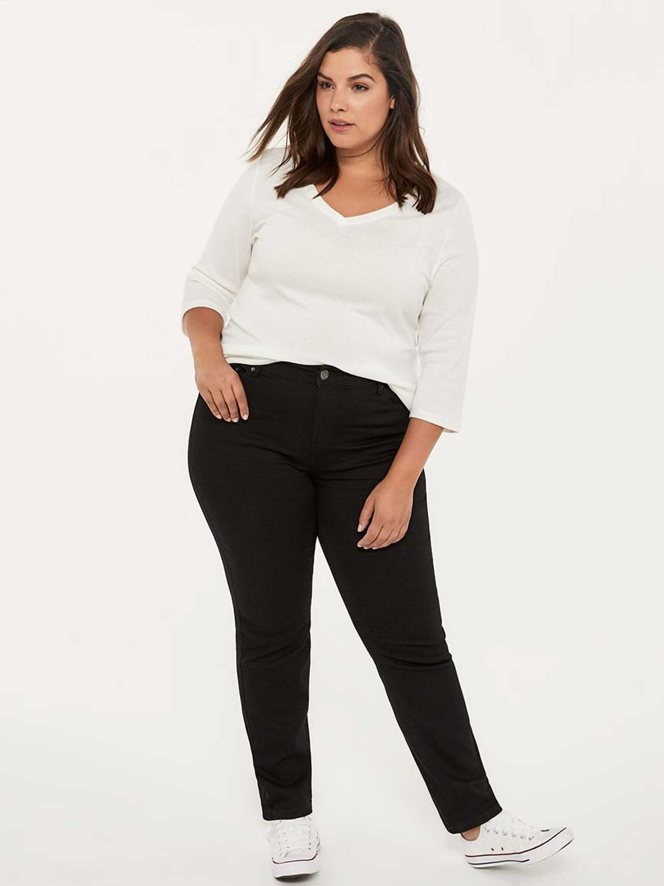 826bc8c487794 ONLINE ONLY - Tall Slightly Curvy Fit Straight Leg Black Jean - d/C JEANS