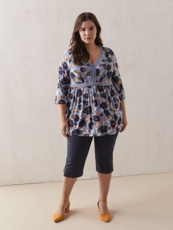 Printed Babydoll Tunic Top - In Every Story