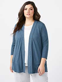 Open Cardigan with Lace-Up Detail - In Every Story