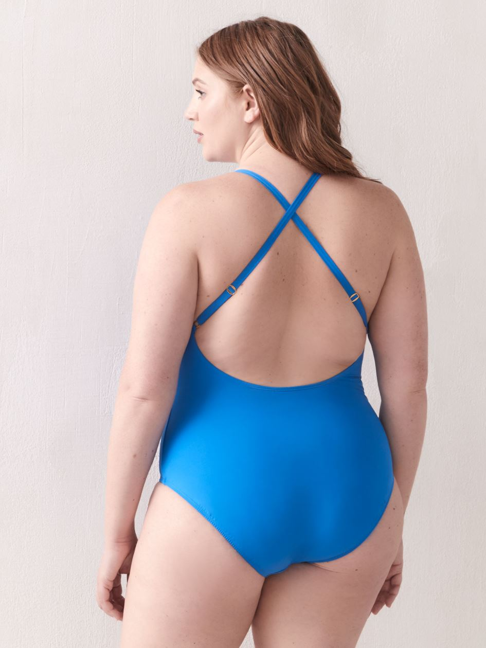 Basket Case One-Piece Swimsuit - Bleu Rod Beattie