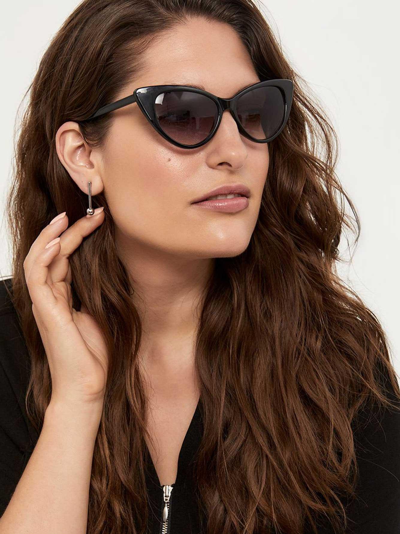 e7bd34af70e7 Black Cat Eye Sunglasses