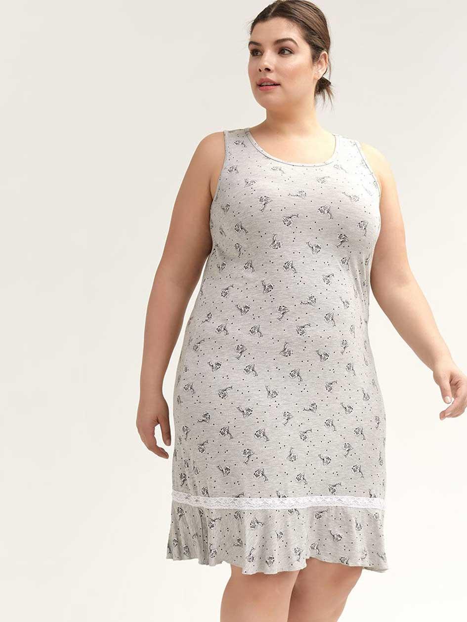 49535bbd26 Sleeveless Printed Sleepshirt - ti Voglio