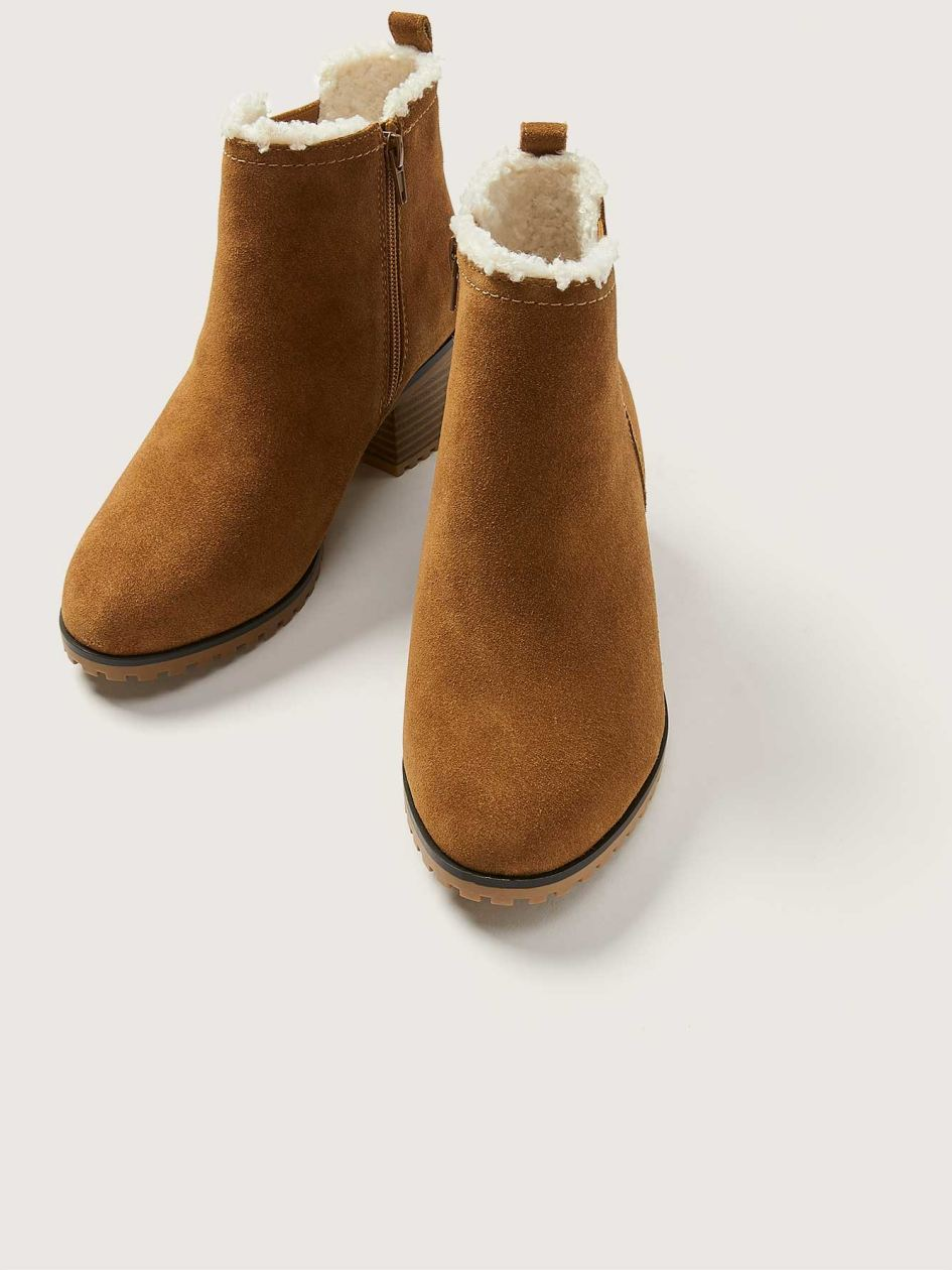 Wide Water-resistant Suede Bootie - Addition Elle