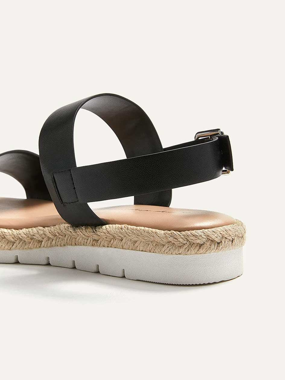 Wide Flat Solid Sandals
