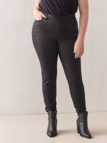 Black Snakeprint Skinny Jean - Addition Elle
