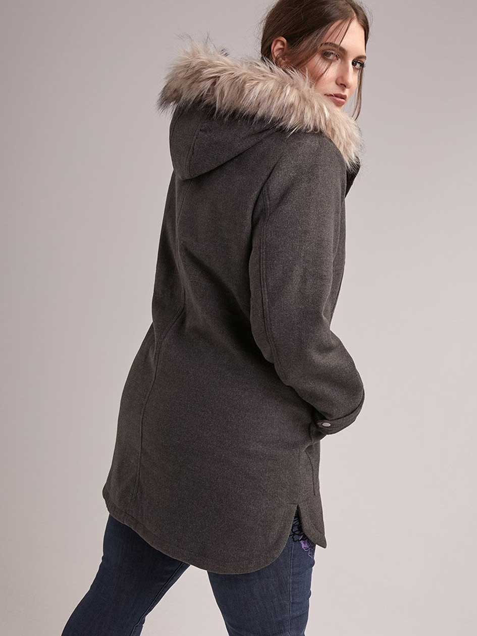 Midi Wool Jacket with Hood - In Every Story
