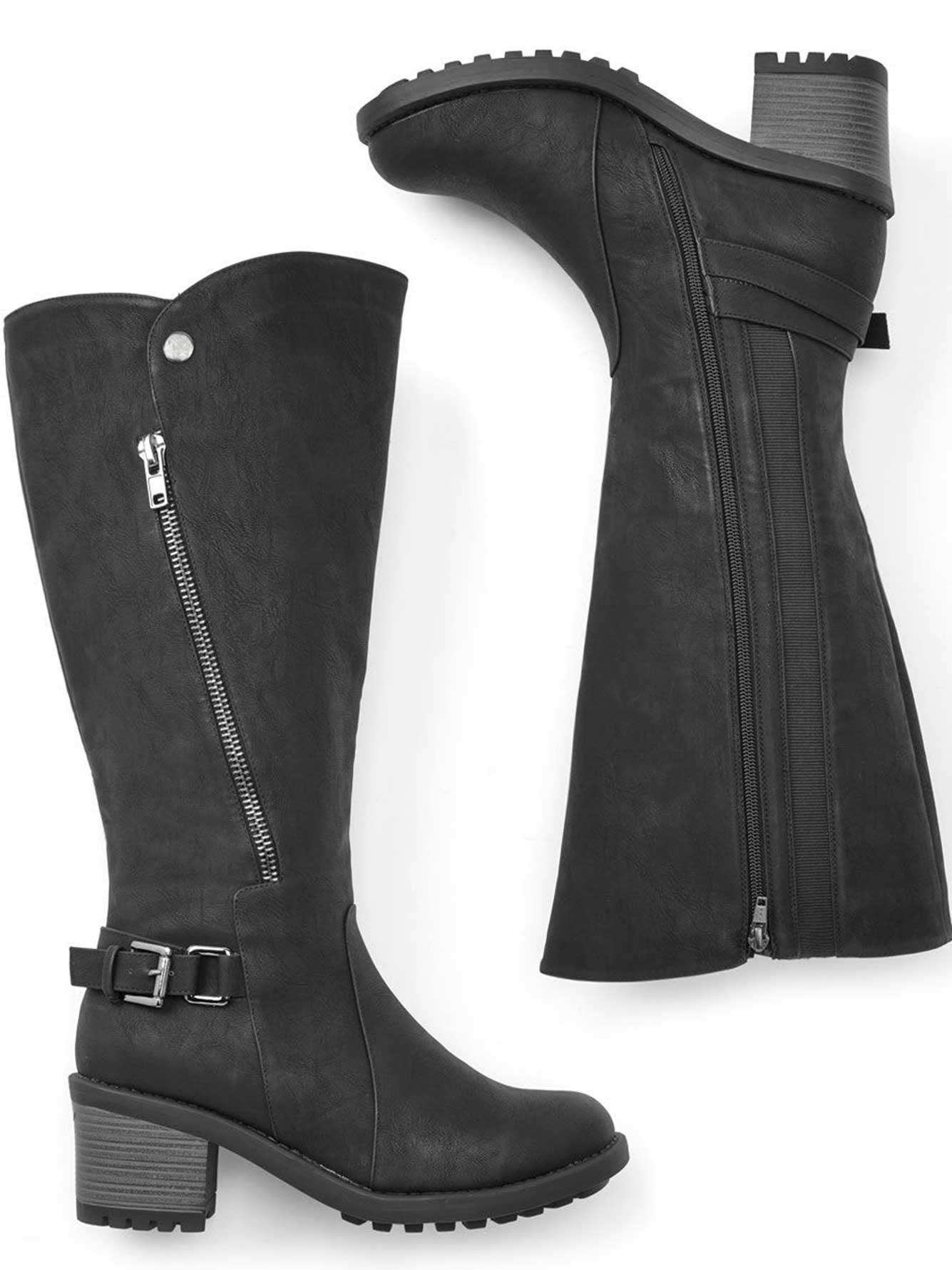8a5e272ca139 Wide-Width Faux-Leather Boots