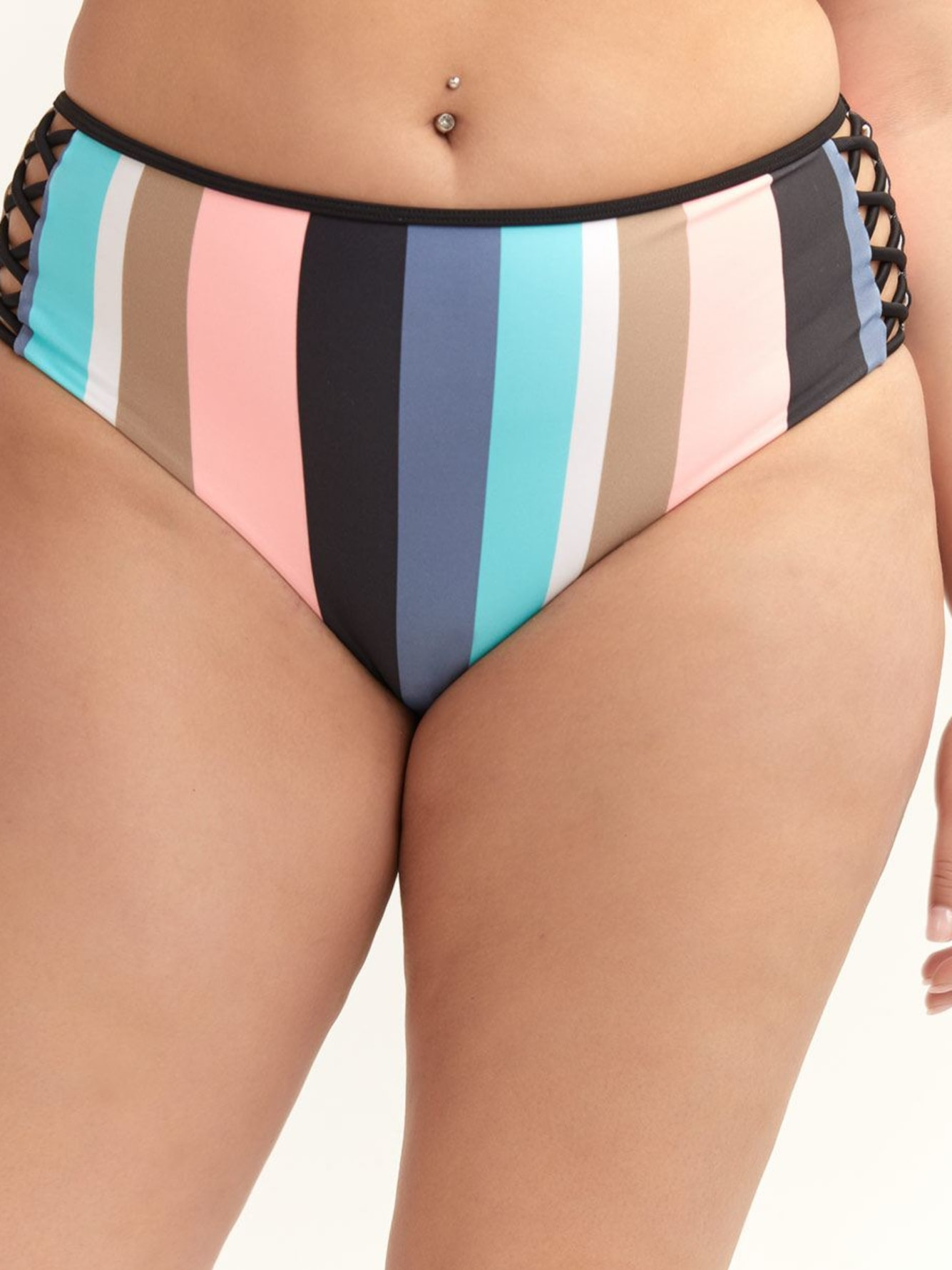 3be68ff501d Body Glove, Striped Retro - High Waist Swim Brief