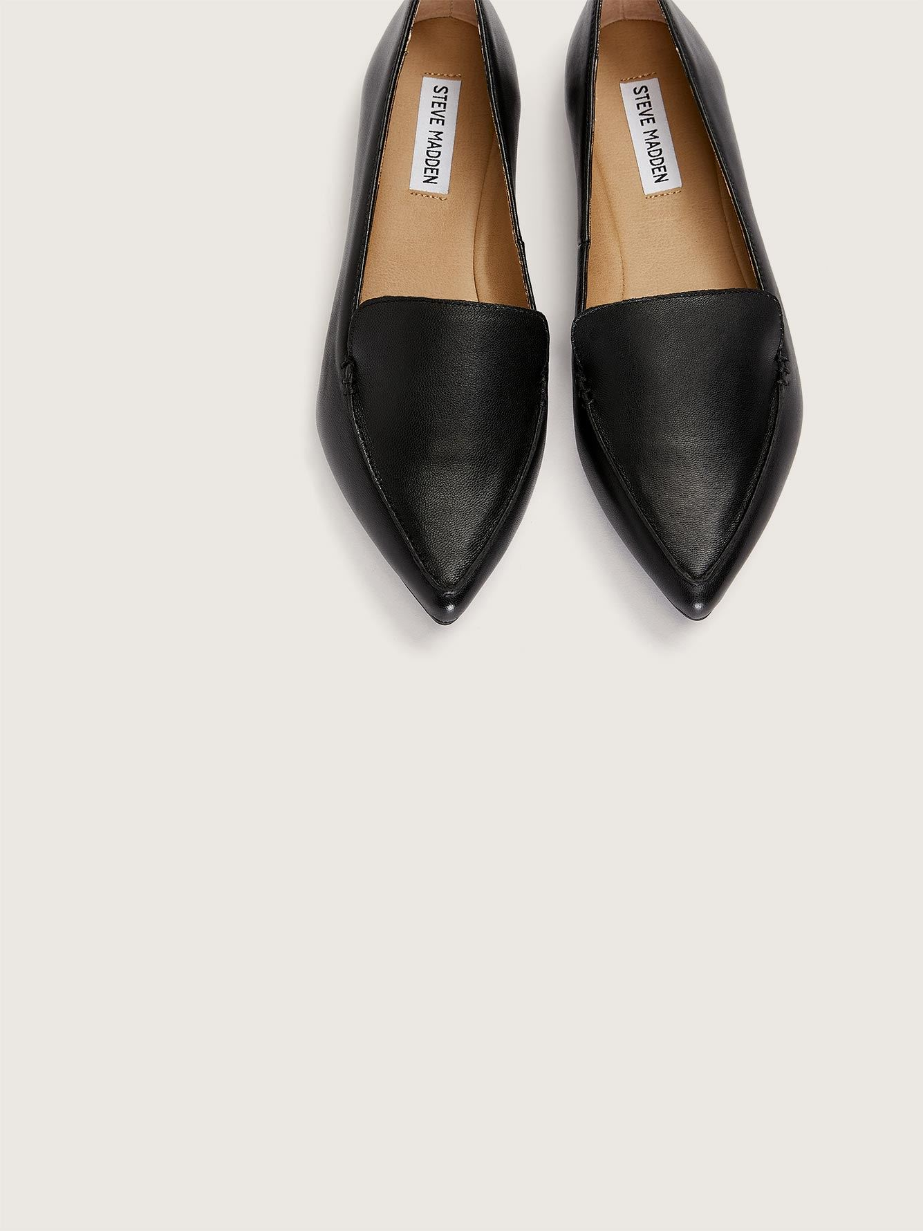 Wide Width Pointed Toe Feather Loafer