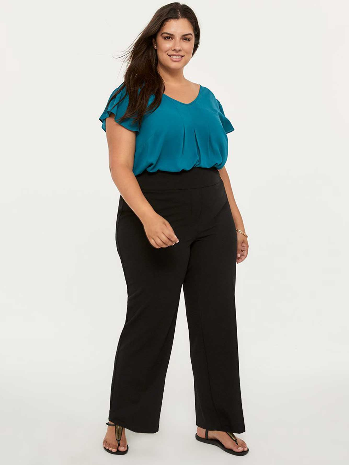 b6e0a278957 Petite Savvy Universal Fit Wide Leg Pull-On Pant - In Every Story ...