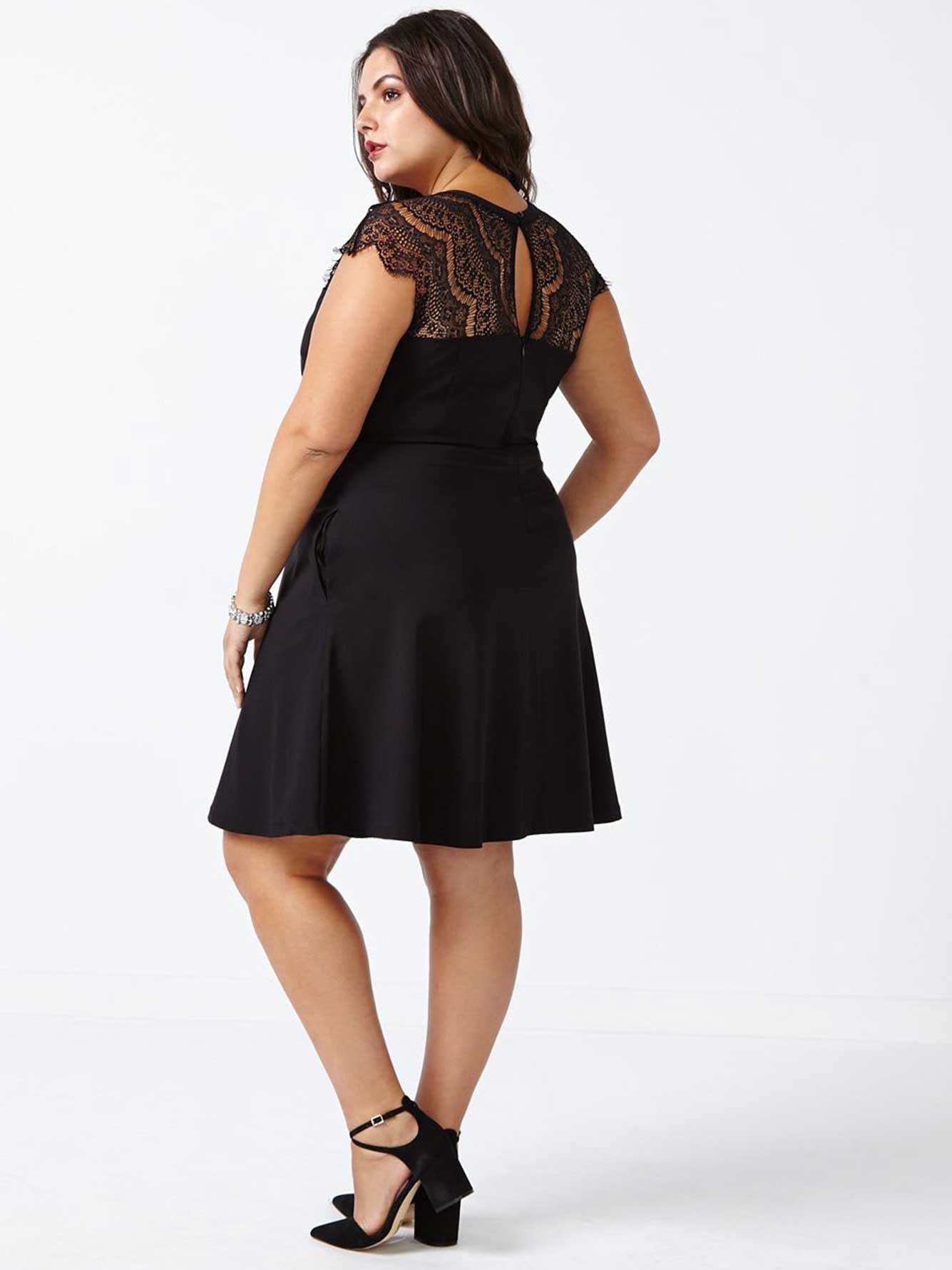 a5b3baeb9b Sleeveless Fit and Flare Dress with Lace | Penningtons