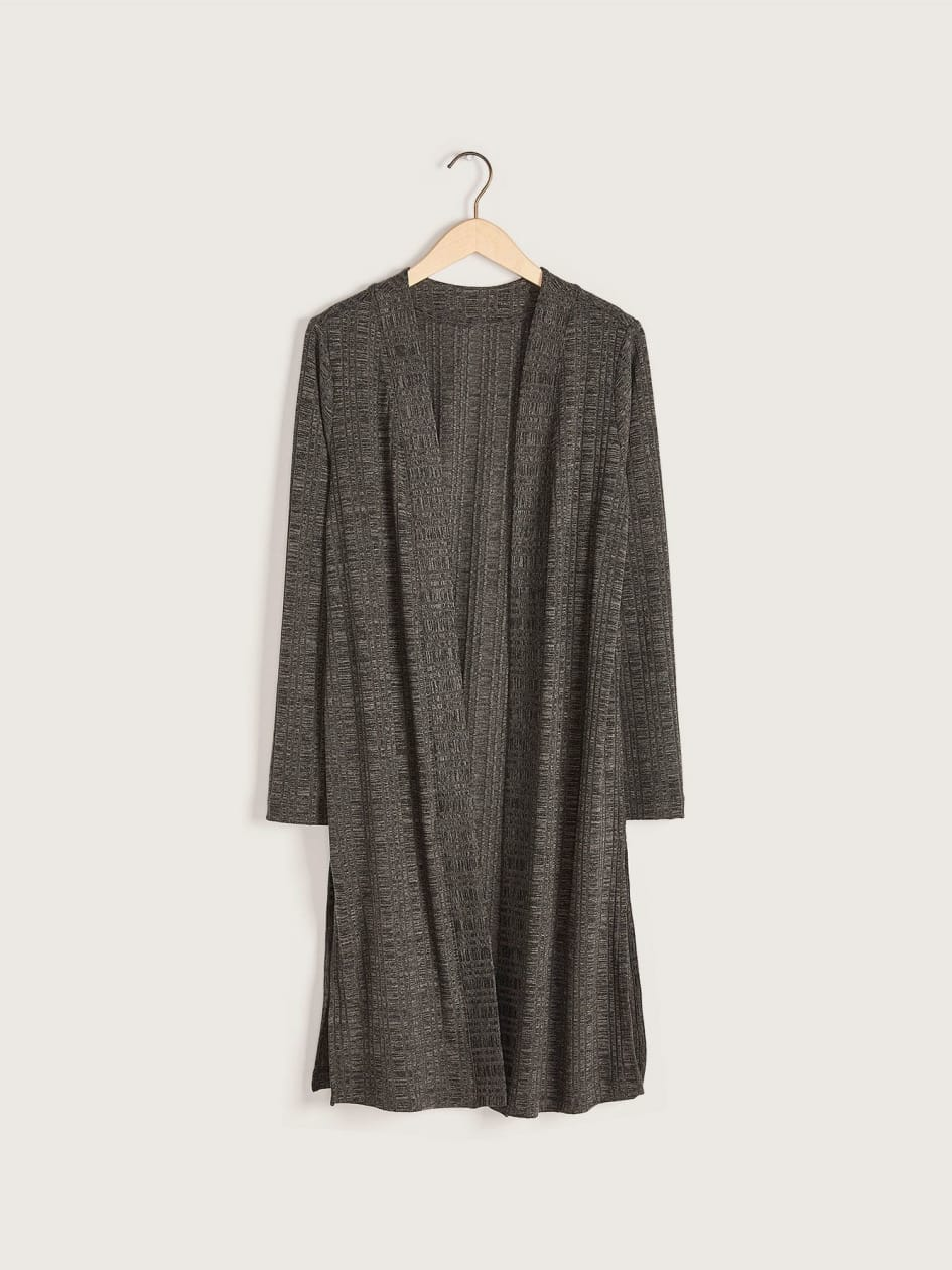 Long Ribbed Cardigan - Addition Elle