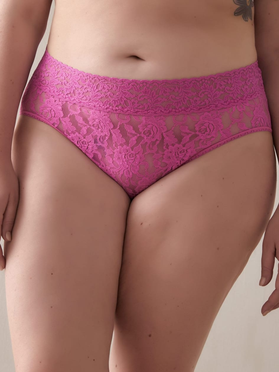 High Cut Lace Signature Brief Panty - Hanky Panky