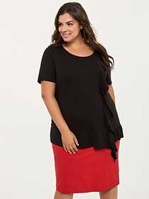 Asymmetrical Top with Ruffles - In Every Story